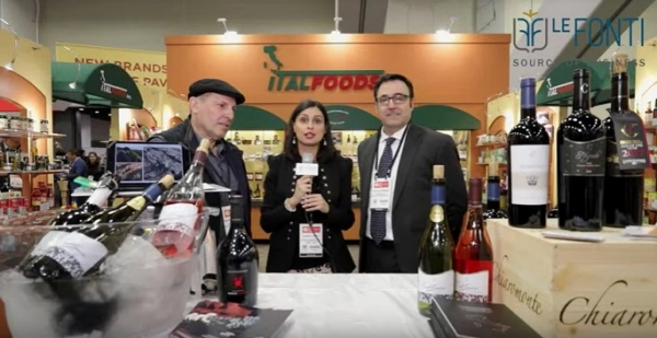Richard Armanino and Massimo Navarretta at the stand of Italfoods