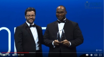Max O' Cisse, CEO of African Open Sky recognized at Le Fonti Awards 2017