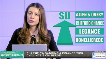 La classifica del mercato legale Banking & Finance 2018: Chi vince e Chi perde